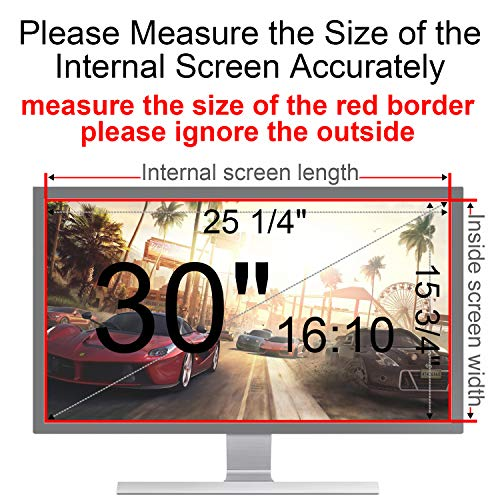 MAYAMANG Privacy Screen Protector 30 Inch 16:10 Monitor, Privacy Filter for Widescreen PC Computer, Monitor Privacy Screen 30 Inch, Anti-Glare Computer Privacy Screen, Monitor Protector by MAYAMANG (Image #2)