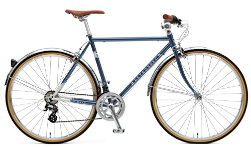 Cheap Retrospec Bicycles Kinney 14-Speed Vintage Hybrid Diamond Flat-Bar Frame Bicycle, Navy Blue, 61cm/X-Large