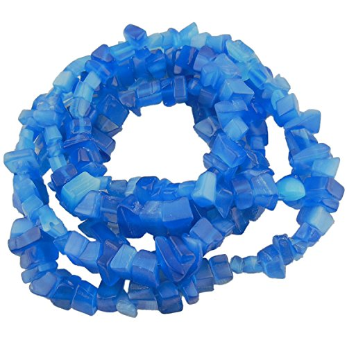 33' Strand 5-8MM Blue Cat Eye Chips Stone Loose Gemstone Beads for Jewelry DIY or Making & Design (CE-1000)