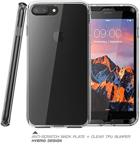 iPhone 8 Plus Case iPhone 7 Plus Case Clear SUPCASE Ares Bumper Case includes 2 interchangeable front casings with Built-in Screen Protector for Apple iPhone 7 Plus 2016 // iPhone 8 Plus 2017