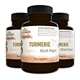 Cheap Botaniceutics Organic Turmeric and Black Pepper – 500 Mg – 360 Capsules – 3 Bottle Pack. No additives, no fillers. Natural curcumin and pepperine for natural, good health.