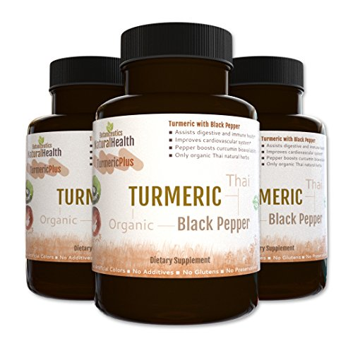 Botaniceutics Organic Turmeric and Black Pepper - 500 Mg - 360 Capsules - 3 Bottle Pack. No additives, no fillers. Natural curcumin and pepperine for natural, good health.