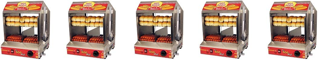 Paragon 8020 Hot Dog Hut Steamer Merchandiser for Professional Concessionaires Requiring Commercial Quality & Construction (5-(Pack))