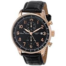 Lucien Piccard Men's LP-10503-RG-01-BK Montilla Analog Display Japanese Quartz Black Watch