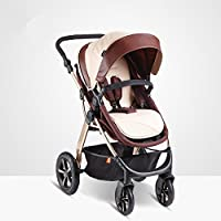 2in1 4 Wheels Aluminium Baby pram/Stroller/Jogger from Birth to 36month (Gold)