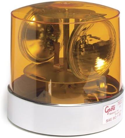 Grote Two Sealed-Beam Roto-Beacon 12 Volt Yellow 76223