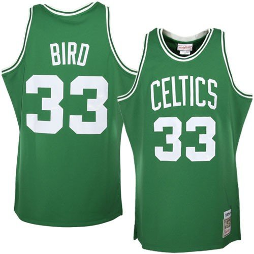 Mitchell & Ness NBA Boston Celtics #33 Larry Bird Green Authentic Throwback Jersey (44)