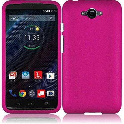 Motorola Red Hard Faceplates (LF 3 in 1 Bundle - Hard Case Cover, Stylus Pen & Wiper for (Verizon) Motorola Droid Turbo XT1254 (Hard Pink))