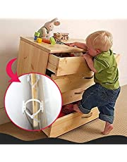 ZHUOTOP Furniture Anchor Anti-Tip Earthquake Cabinet Wall Anchors Baby Protection Safety Kit Adjustable Earthquake Resistant 10 Pack