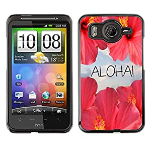 A-type Arte & diseño plástico duro Fundas Cover Cubre Hard Case Cover para HTC G10 (Aloha Flowers Sky Nature Sun Hawaii)