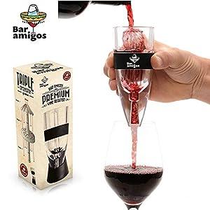 Bar Amigos® Premium Wine Aerator Aeratore Per Vino - Globalmente BREVETTATO Triple Action Design - Utilizzato da Amanti… 23 spesavip