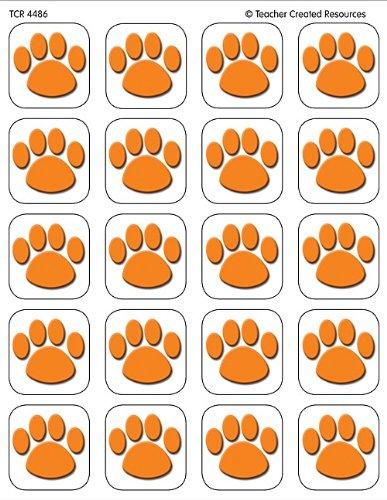 Teacher Created Resources Orange Paw Print Stickers (4486)