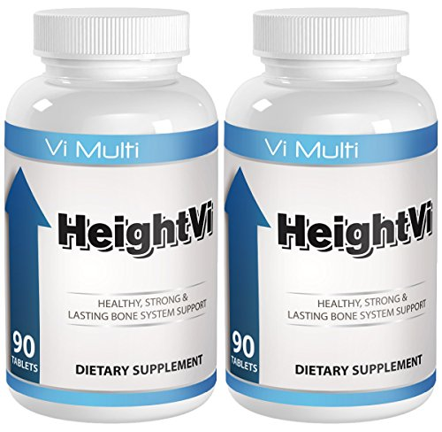 Height Supplements will help you Grow Taller with the top Height Vitamins. Build stronger bones and experience a height increase without height increase insoles.2 pack of Vimulti Grow taller pills