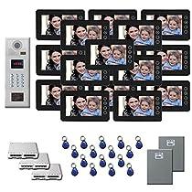 Building Video Intercom 16 7 door camera monitor key for kit