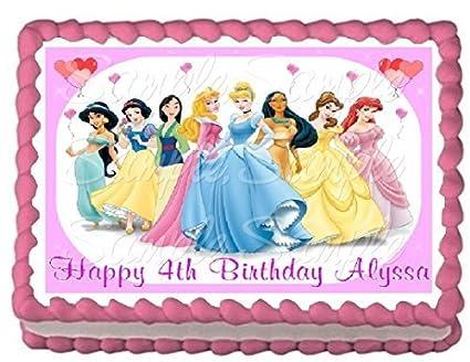 Amazon Disney Princess Edible Frosting Sheet Cake Topper