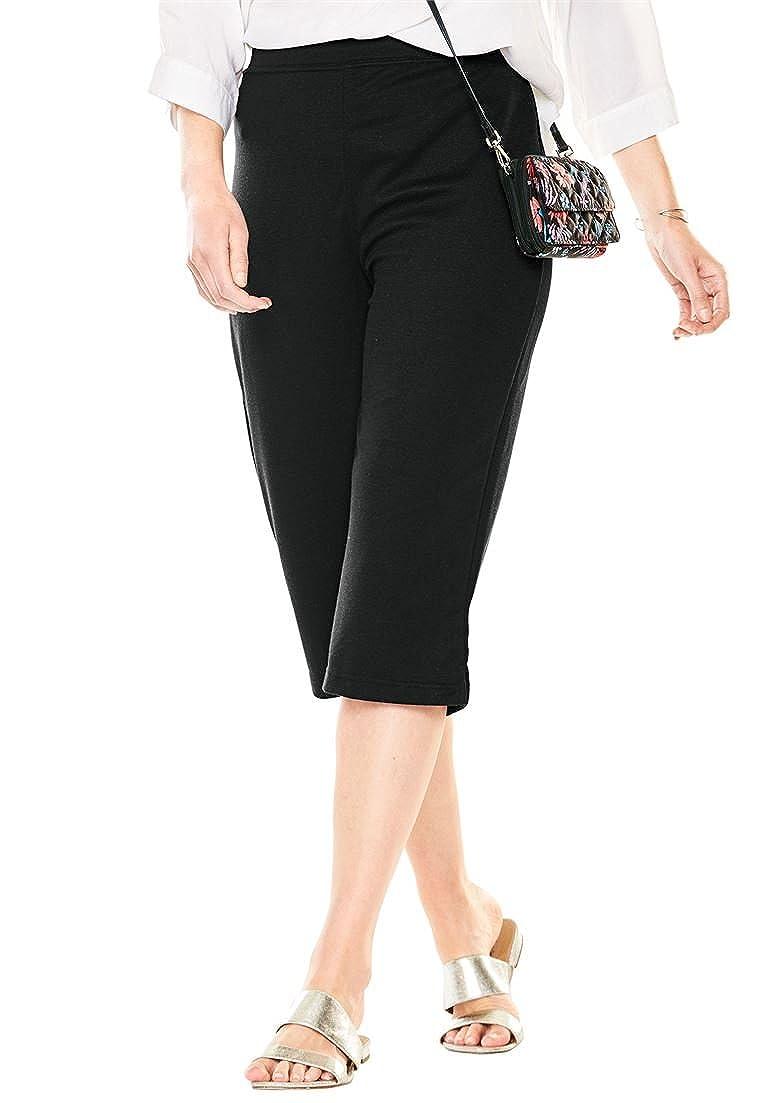 Woman Within Plus Size Capri Length Ponte Knit Pants 12 W 21883252502mk12W~12W