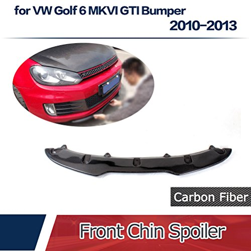 JCSPORTLINE for VW Golf 6 GTI Bumper2010-2013 Carbon Fiber Front Chin Spoiler Golf Gti Carbon