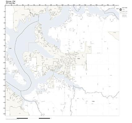 Grove Oklahoma Map.Amazon Com Zip Code Wall Map Of Grove Ok Zip Code Map Not