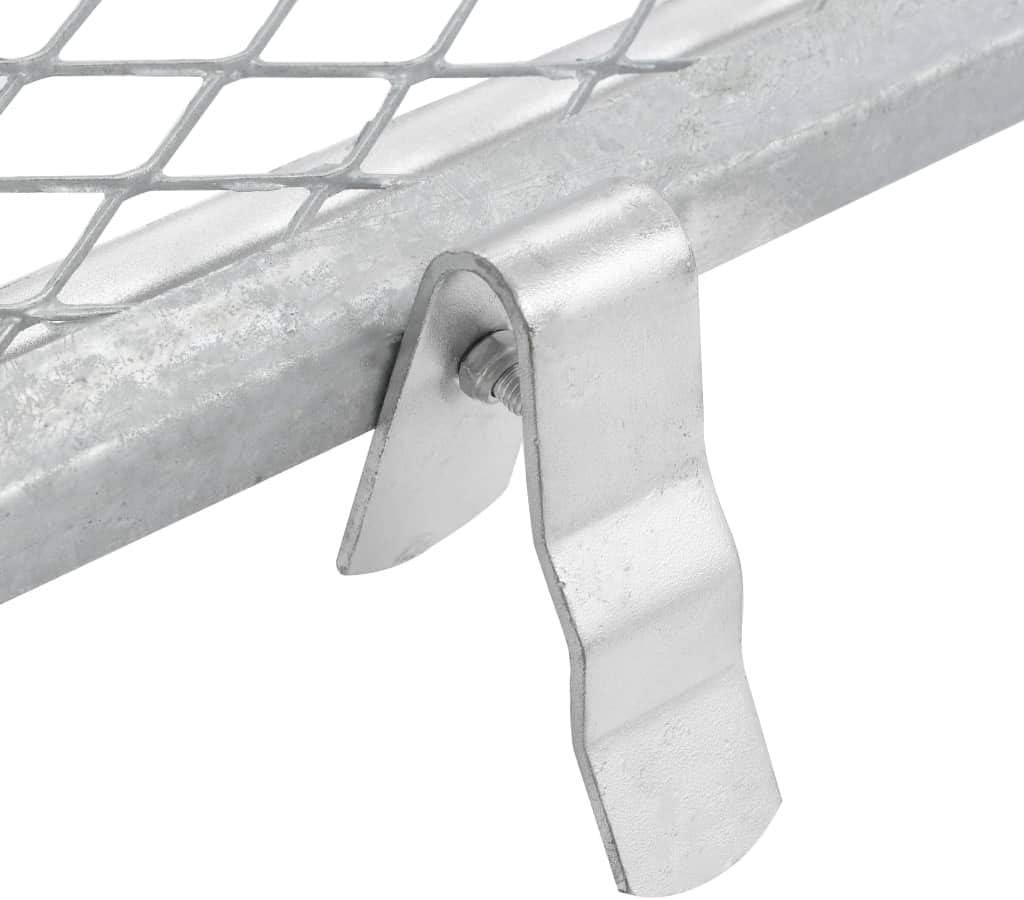 YiYueTrade vidaXL Durchwurfsieb 100/×60 cm Silbern