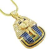 Hip Hop Bling Glod Tone King Tut Pharaoh Pendant