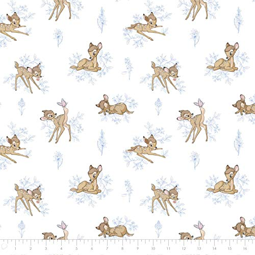 Disney Bambi in Blue Premium Quality Flannel by The Yard (Disney Flannel Fabric)