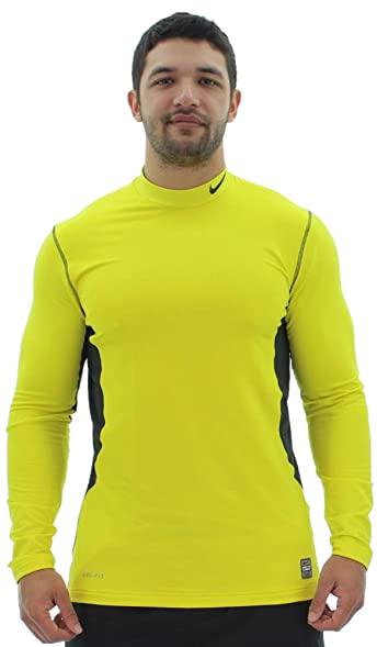 Nike Men's Pro Combat Hyperwarm Fitted Dri-Fit Max Mockneck Shirt (X-Large