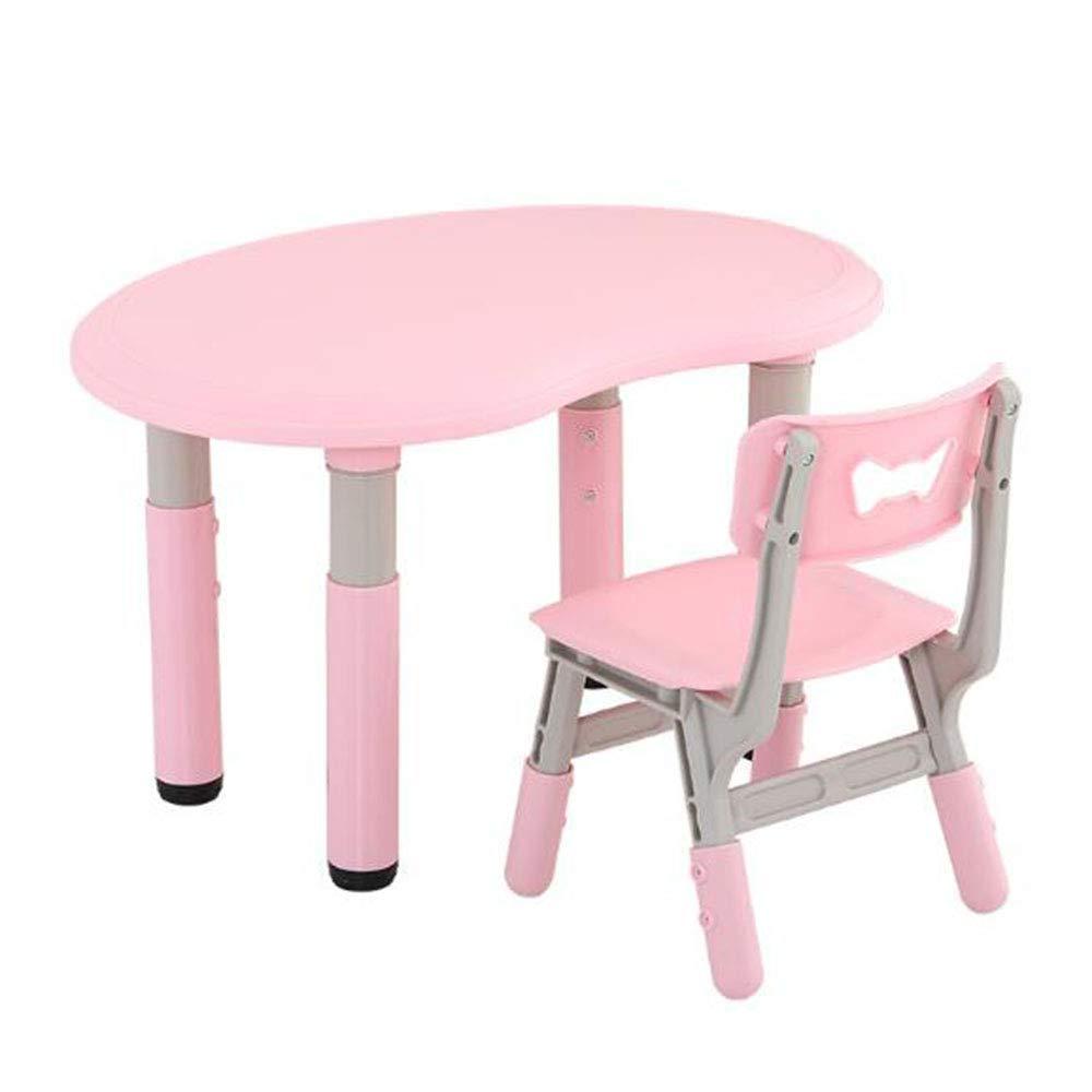 SCYTSD Kindertisch Holz, Activity Tisch/Sitzgruppe Kinder Tisch/Ausziehbar Stuhl Tisch/Spielzeug Tisch/Lernspaß Tisch Trinken Baby Tisch Stuhl Für 1-8 Jahre Alt PP