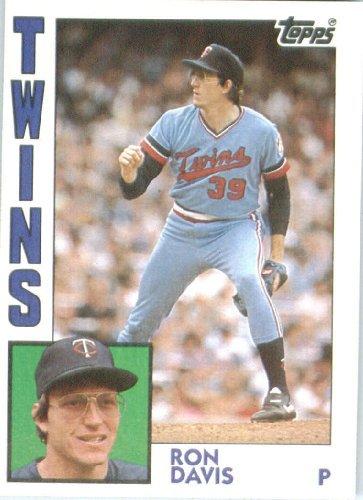 1984 Topps 519 Ron Davis Minnesota Twins Baseball Cards At