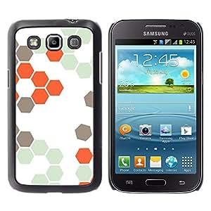 For Samsung Galaxy Win / I8550 / I8552 / Grand Quattro Case , Hive Orange White Hexagon Pattern - Diseño Patrón Teléfono Caso Cubierta Case Bumper Duro Protección Case Cover Funda