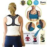 Back Posture Corrector for Women Men, Effective Primate Posture Brace & Armpit Pads, Comfortable Clavicle Brace, Adjustable Thoracic Kyphosis Brace, Upper Back Clavicle Posture Support (REG 32''-45'')