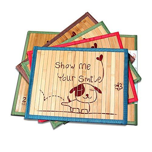Hanzion 夏用竹マット ペット用クールベッド クッション 涼しい 涼感パッド 冷えマット 熱中症暑さ対策 お掃除簡単 通気性よい (2L)