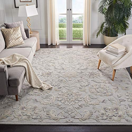 Safavieh Glamour Collection GLM624L Light Blue and Ivory 9 x 12 Area Rug