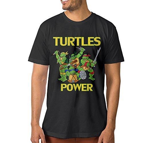 ^GinaR^ Men's TURTLES1 Fashion Short Sleeve L Black (Krang Hoodie)