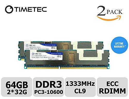Timetec (T1333RF32GHC) 64GB Kit (2x32GB) 1333MHz DDR3L (P...