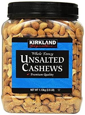 Kirkland Signature Unsalted Cashews