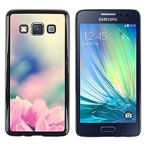 // PHONE CASE GIFT // Duro Estuche protector PC Cáscara Plástico Carcasa Funda Hard Protective Case for Samsung Galaxy A3 / Rosa Flowrs Glow /