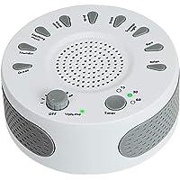 Machine de Bruit Blanc Thérapie Sonore Appareil de Sommeil avec 9 Sons Naturels avec Contrôle du Temps et du Volume, l'insomnie de Compteur de confort pour bébés adultes