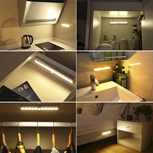 amir 10 led motion sensing closet lights 3 pack diy stick on import it all. Black Bedroom Furniture Sets. Home Design Ideas