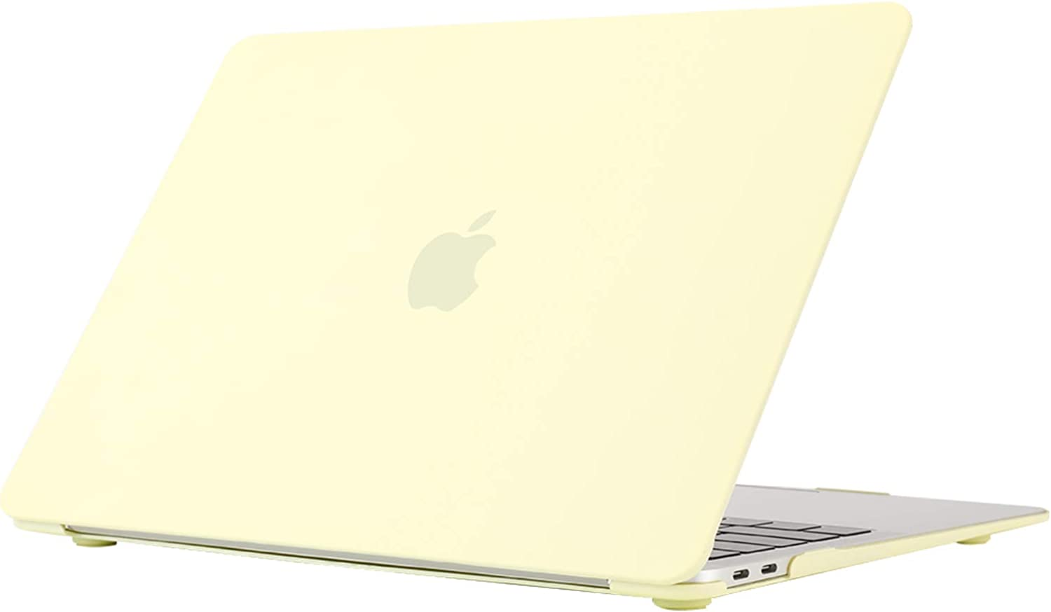 Se7enline A1932/A2179 MacBook Air 13 Inch Case 2020/2019/2018 New Smooth Matte Frosted Plastic Hard Shell Carrying Case Cover for MacBook Air 13-Inch Retina Display with Touch ID, Mellow Yellow
