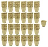 Set of 192 Med Biodegradable Eco Friendly Peat Pots! 3'', 2'', 12 Pot Tray - Recycled Non Bleached Peat Pots Perfect for Seed Germination! No Transplanting Required - No More Damaged Roots!