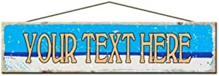product image for Custom Wood Plank Beach Sign, Your Text Here Wood Sign, Beach Sign, Kitchen Sign, Bakery Sign, Laundry Sign, Pantry Sign, Beach House Decor