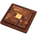 """Wigano Wooden 3D Wooden Jigsaw Puzzle - Wooden Toys/Games for Kids Puzzles Pedagogical Board Brain Teaser Games (6.5""""X6.5"""")"""