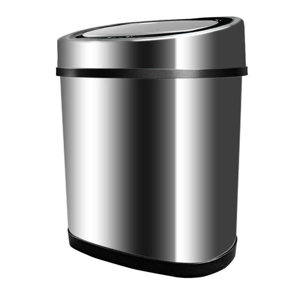 TY ゴミ箱 - インテリジェント誘導ステンレス鋼ゴミ箱ホームリビングルームキッチンバスルーム大充電式ゴミ箱12L(シルバー) ゴミ箱   B07R7VXLKQ