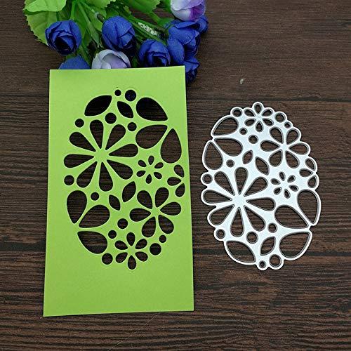 (Oval Circle Scallop Frame Metal Cutting Dies Stencils Die Cut for DIY Scrapbooking Album Paper Card Embossing)