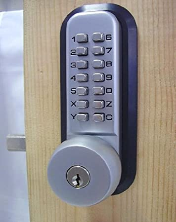 allweather mechanical keyless deadbolt door lock satin chrome by anaconda