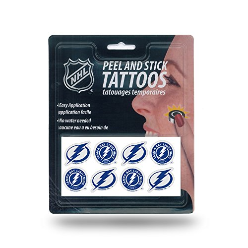 Rico Industries NHL Tampa Bay Lightning 8-Piece Set of Peel and Stick Tattoos