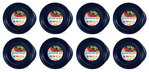 (Preserve Everyday 9.5 Inch Plates, Set of 32, Midnight Blue)