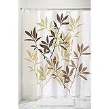 InterDesign Anzu Fabric Shower Curtain, Brown, 72 x 72-Inch
