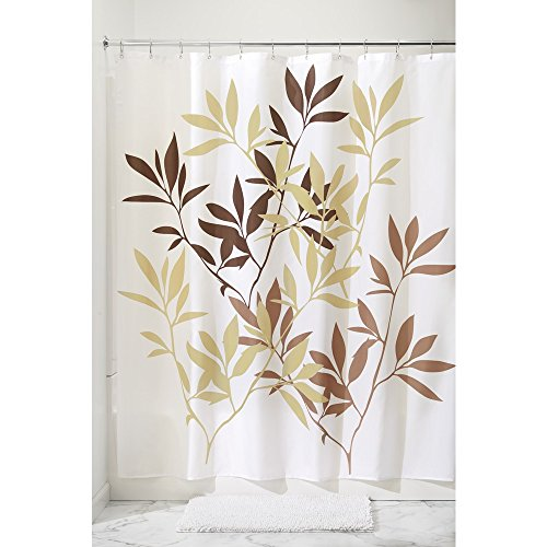 InterDesign 35643 Leaves Fabric Shower Curtain - Stall, 54