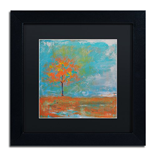 "picture of Trademark Fine Art Autumn Framed Artwork by Nicole Dietz, 11 by 11"", Black Matte/Black Frame"